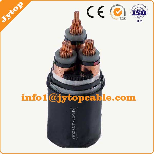 240mm 3 Core Medium Voltage XLPE Insulation PVC Sheached STA Steel Tape Armoured Power Cable